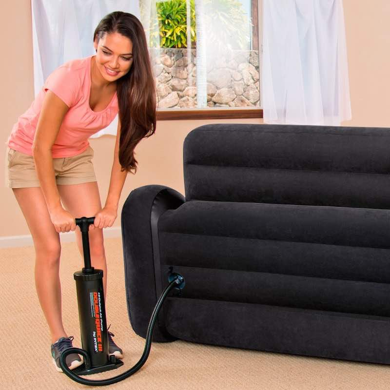 Sofa-Intex-Aufbau
