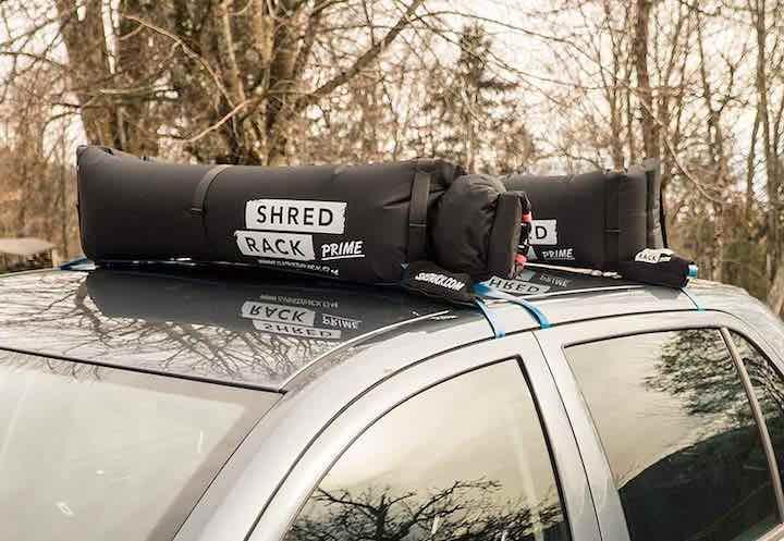 ShredRack – aufblasbarer Dachgepäckträger für's Auto!