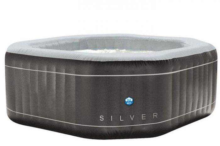 Netspa SILVER: Aufblasbarer Whirlpool in achteckiger Form