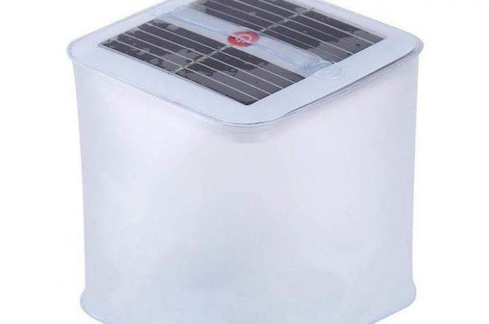 Aufblasbare Solarlampe von Womdee: Ideal für's Camping!
