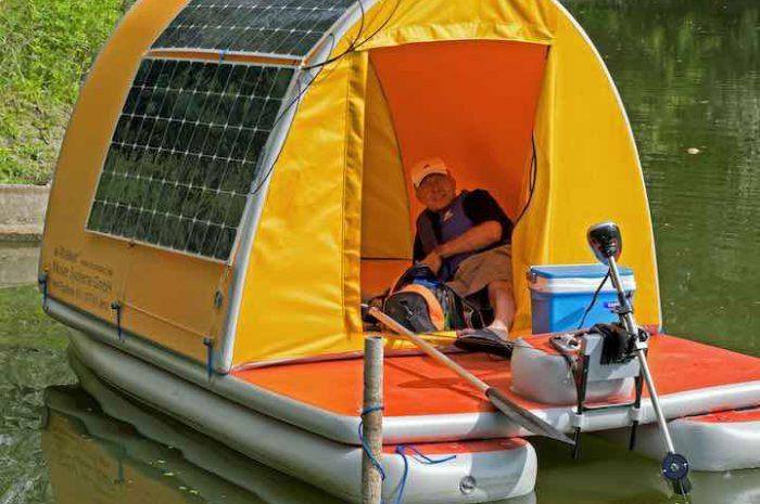 eWalker: Aufblasbares Hausboot mit genialem Solarbetrieb