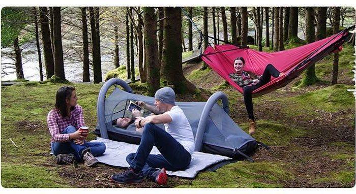 Crua Modus: Aufblasbares 6-in-1 Campingsystem mit Matratze und Zelt