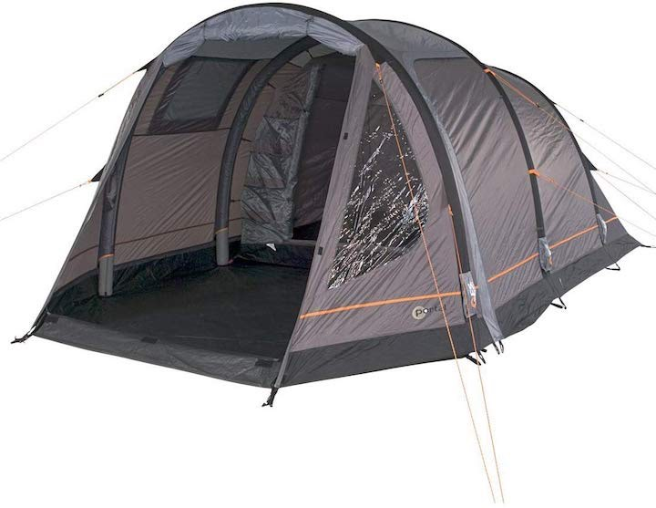 Aufblasbares-Campingzelt-Portal-Alfa-aufgebaut