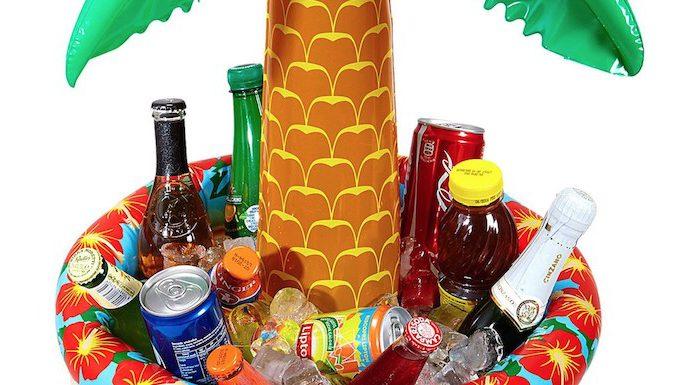 Aufblasbare Palme: Getränkekühler für heiße Tage von Widmann