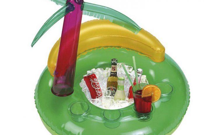 Aufblasbare Poolbar in Form einer Palme – mit 4 Getränkeplätzen