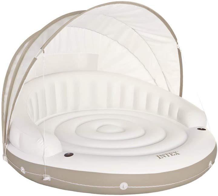 Intex-Canopy-aufgebaut