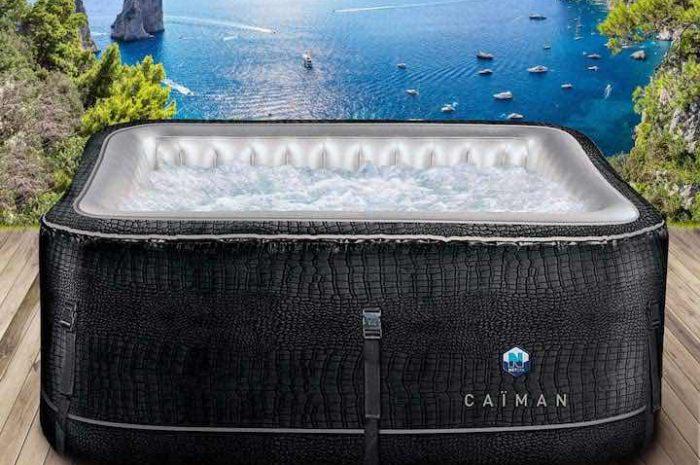 Netspa Caiman: Aufblasbarer Whirlpool in besonderem Kroko-Look