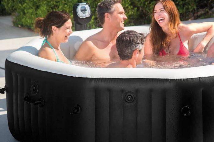 Intex PureSpa Jet & Bubble: Aufblasbarer Whirlpool für sechs Personen