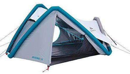 Quechua Campingzelt AIR Seconds 2 XL Fresh & Black aufgebaut