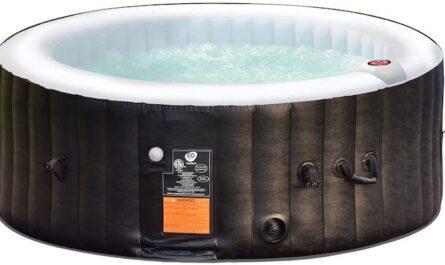COSTWAY Whirlpool aufblasbar mit Wasser gefuellt