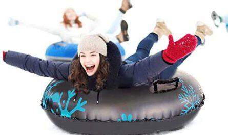 Fanville Donut mit Frau auf Schneepiste