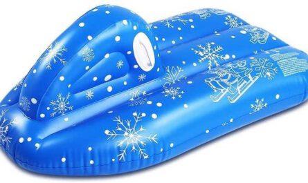 TwoCC Schneeboot blau mit Schneeflocken