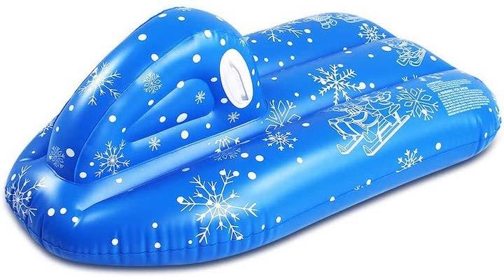 TwoCC-Schneeboot-blau-mit-Schneeflocken