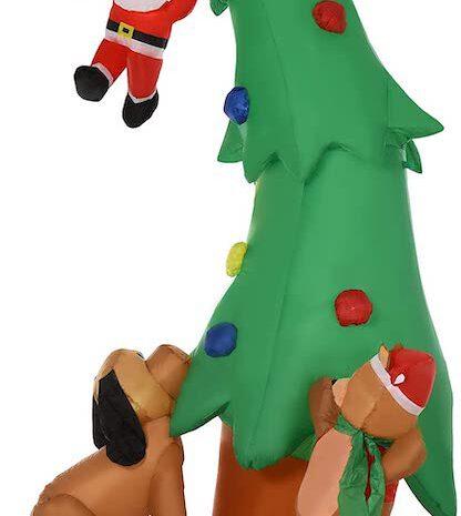 Aufblasbarer Weihnachtsbaum von HOMCOM: Deko für den Garten