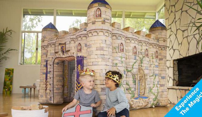 Aufblasbares Spielhaus von Indoor Kingdoms: Kleine Burg für Entdecker