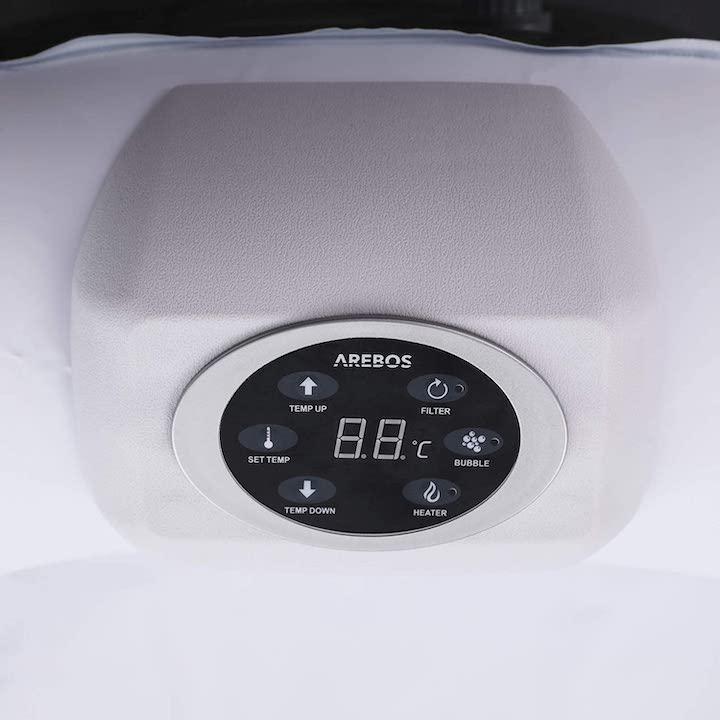 Bedieneinheit-runder-Arebos-Whirlpool