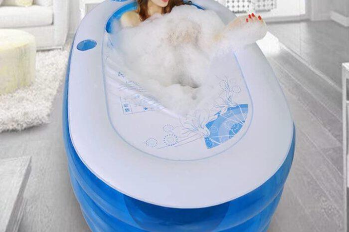 Aufblasbare Badewanne von Bathtub: Mobiler Badespaß für Zuhause