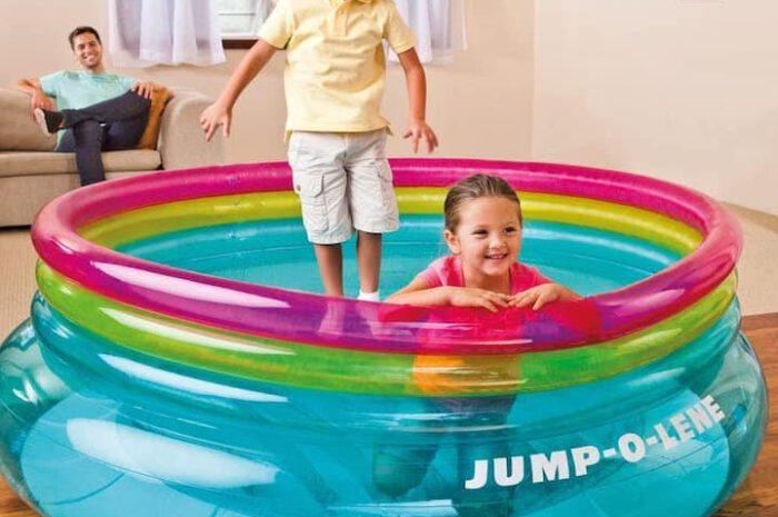 Intex Jump-O-Lene: Aufblasbares Trampolin bietet Hüpfspaß für Kinder