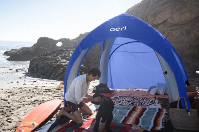 Aeri: Aufblasbarer Pavillon mit praktischem Transport-Rucksack