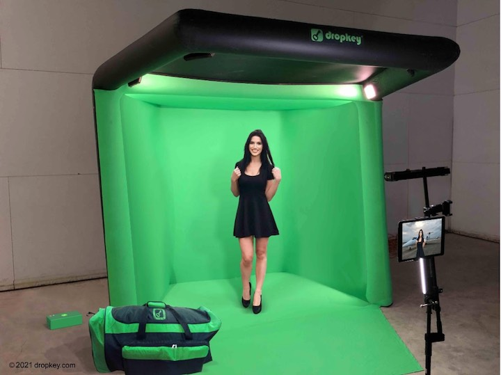 DropKey-Green-Screen-Studio-aufgebaut