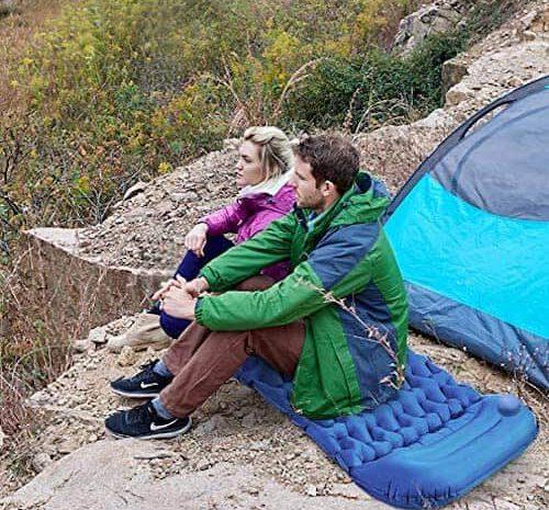 Idefair Isomatte: Aufblasbare Schlafmatte mit extra viel Komfort