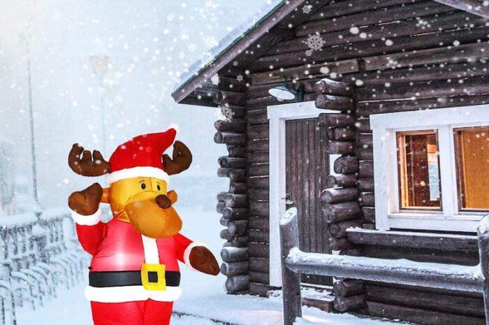 Aufblasbares Rentier als weihnachtlicher Blickfang für Haus, Garten oder Weihnachtsfeier
